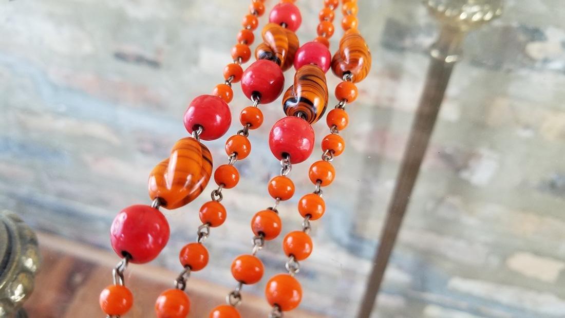 Art Deco Czech Flapper Beads - 3
