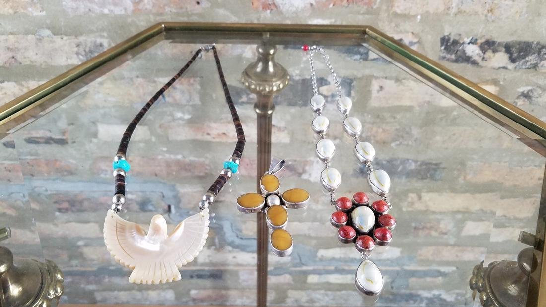 Southwestern Sterling and Stone Necklaces and Pendant