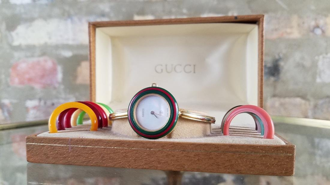 Vintage Gucci Interchangeable Bezel Watch