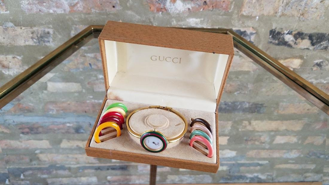 Vintage Gucci Interchangeable Bezel Watch - 2