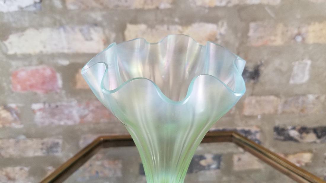Signed LCT Favrille Flower Form Vase - 3
