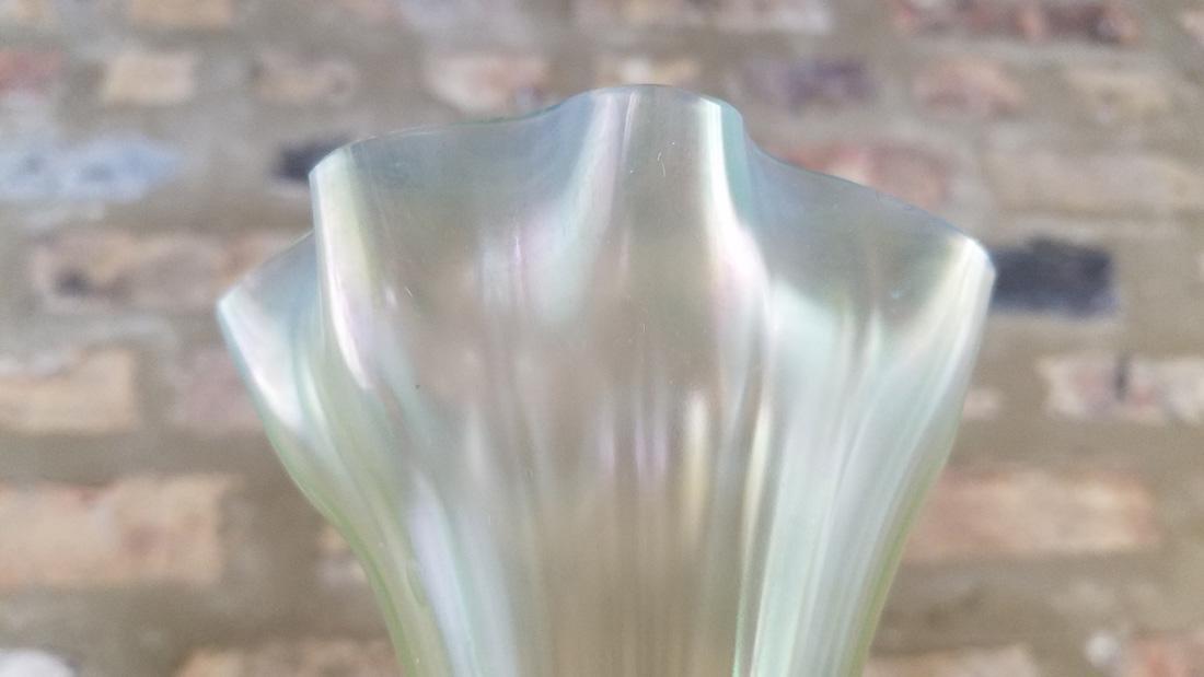 Signed LCT Favrille Flower Form Vase - 4