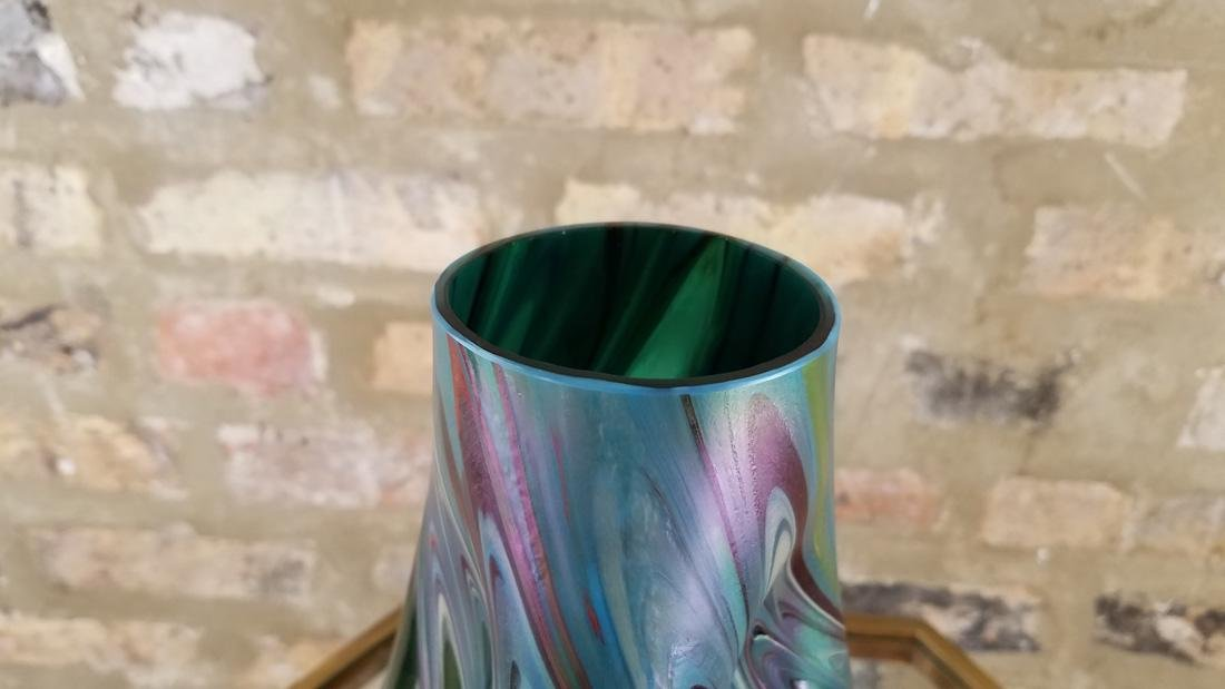 Monumental Loetz Austrian Iridescent Threaded Vase - 4