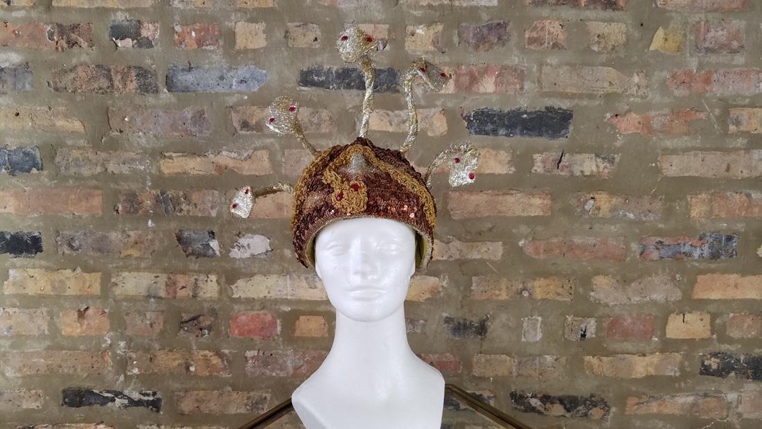 Vintage Snake Hat, Showgirl Headpiece