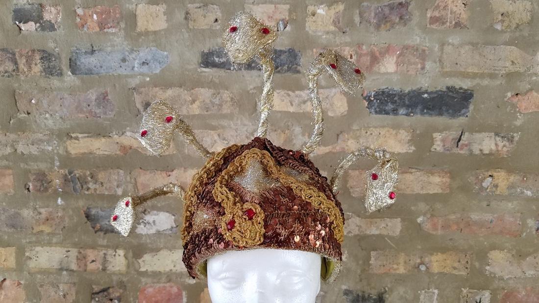 Vintage Snake Hat, Showgirl Headpiece - 2