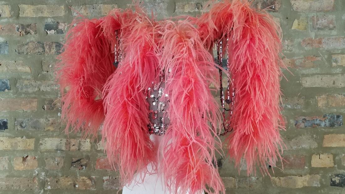 Vintage Ostrich Feather Showgirl Hat - 2