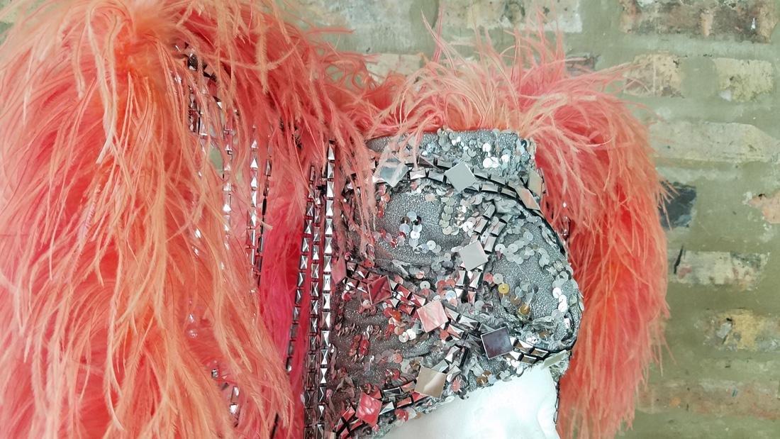Vintage Ostrich Feather Showgirl Hat - 3
