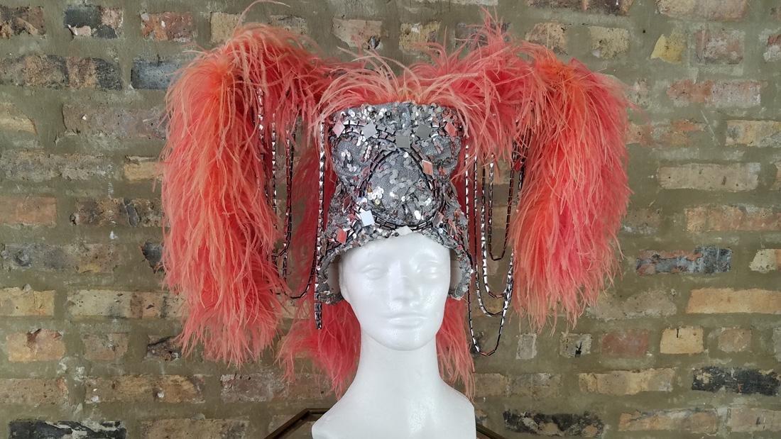 Vintage Ostrich Feather Showgirl Hat - 4