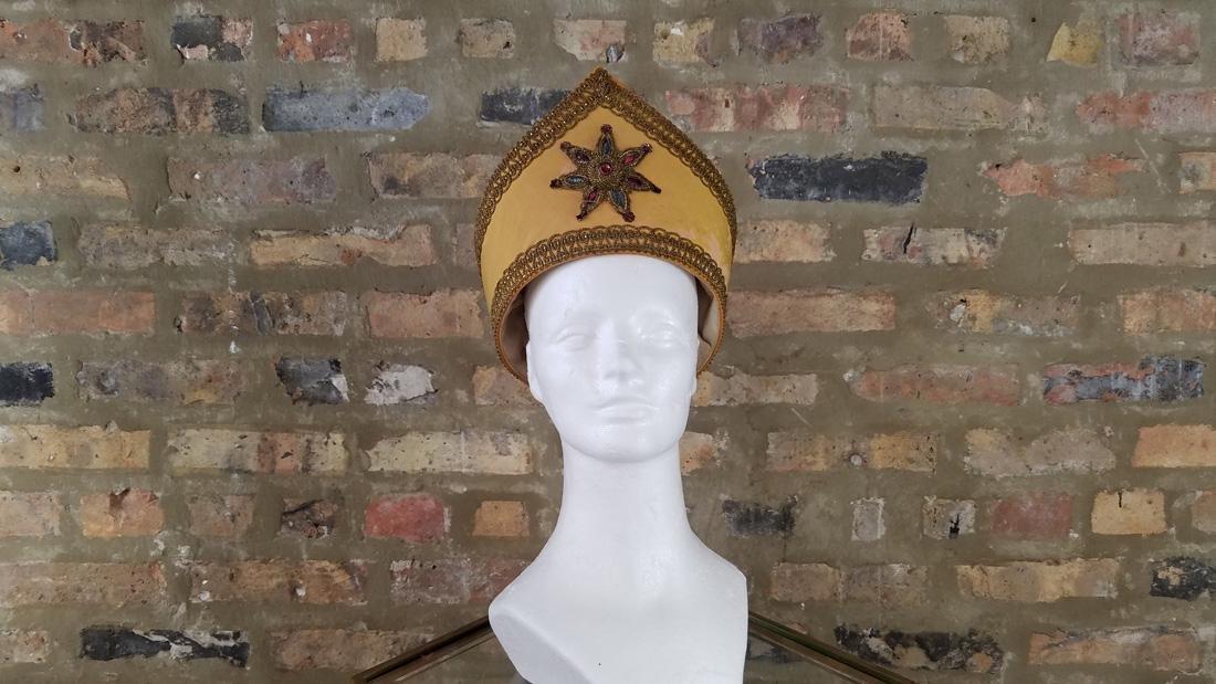 Antique Masonic Yellow Hat