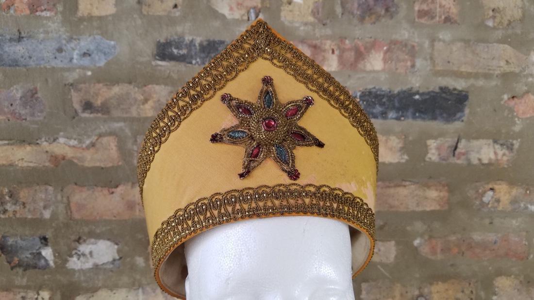 Antique Masonic Yellow Hat - 2