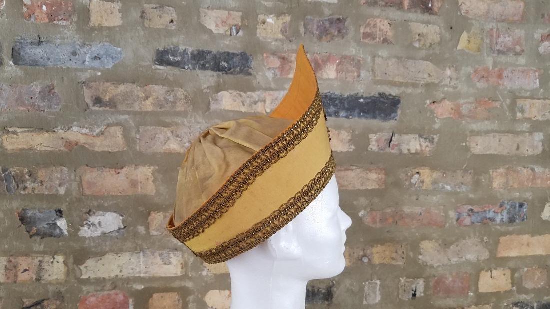 Antique Masonic Yellow Hat - 3