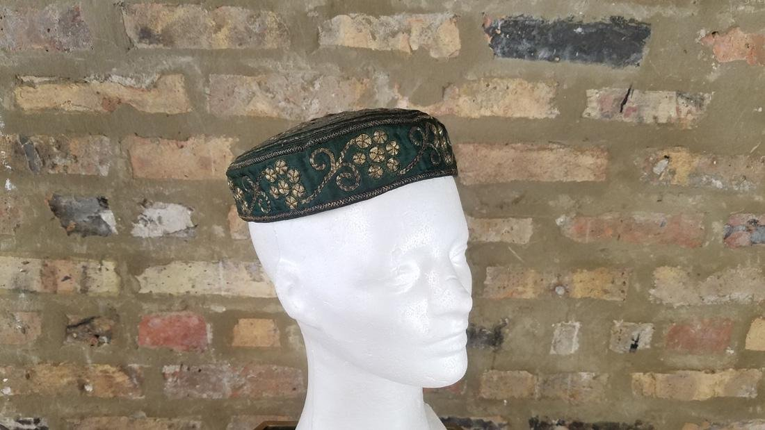 Antique Moroccan Metal Embroidered Hat