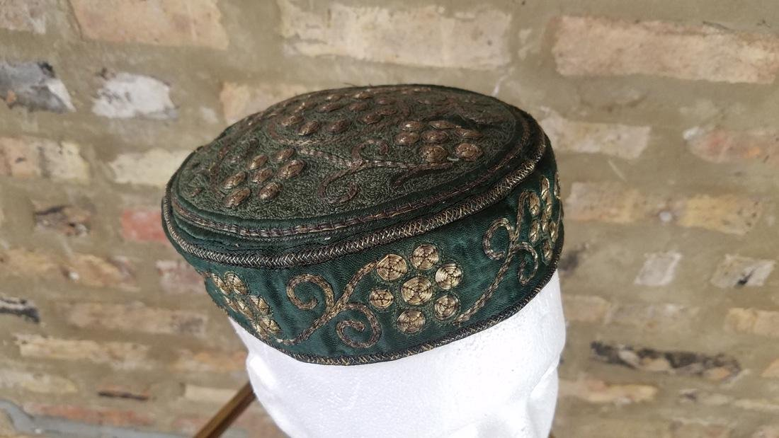 Antique Moroccan Metal Embroidered Hat - 2