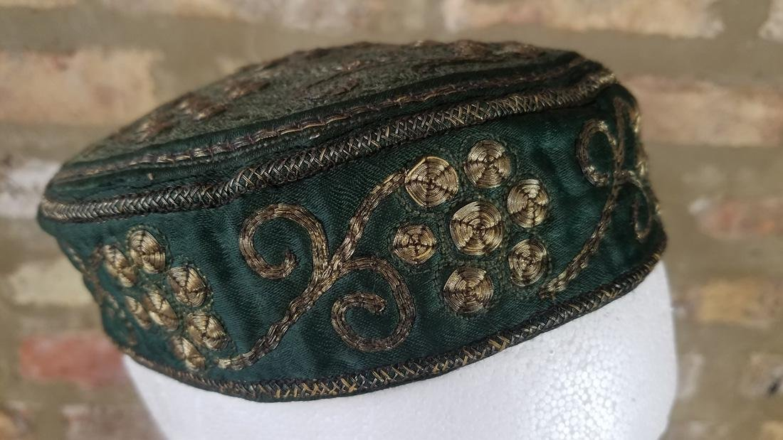Antique Moroccan Metal Embroidered Hat - 3