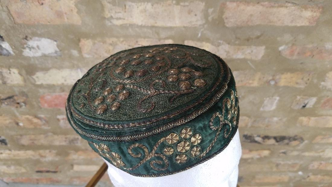 Antique Moroccan Metal Embroidered Hat - 4