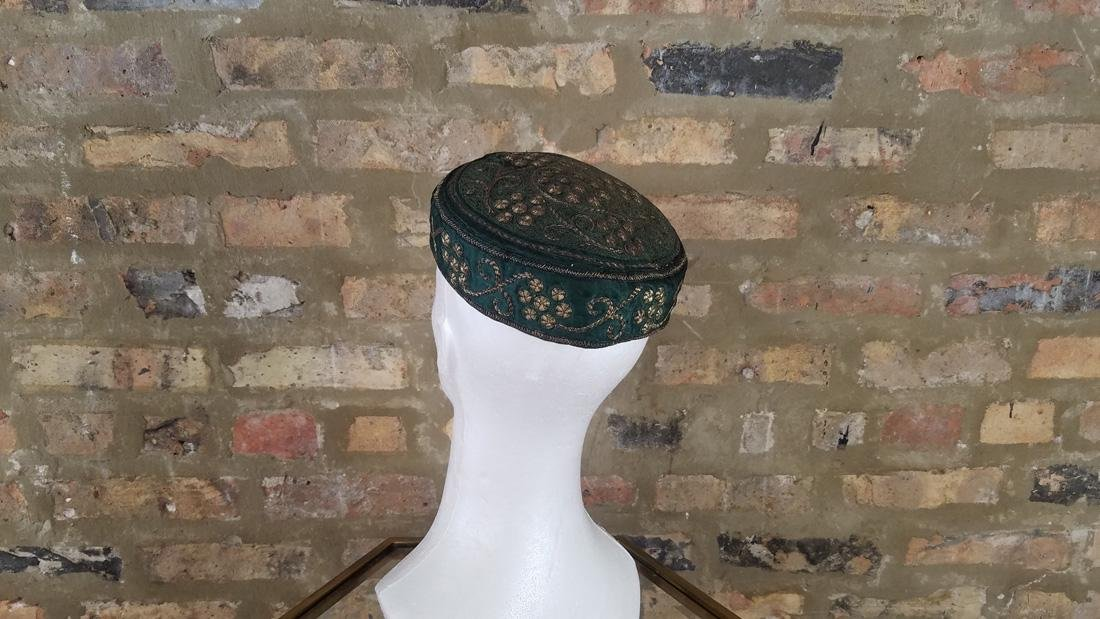 Antique Moroccan Metal Embroidered Hat - 5
