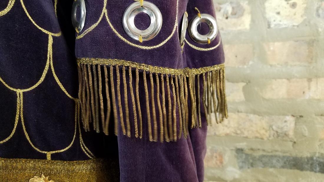 Antique Velvet Tunic c. 1900 Secret Society - 4