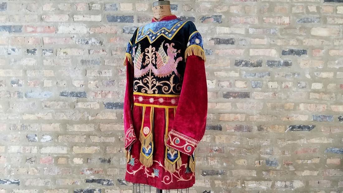 Antique Velvet Embroidered Masonic Tunic