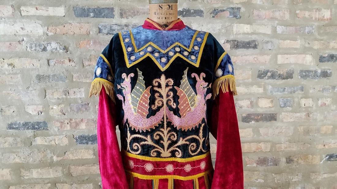 Antique Velvet Embroidered Masonic Tunic - 2