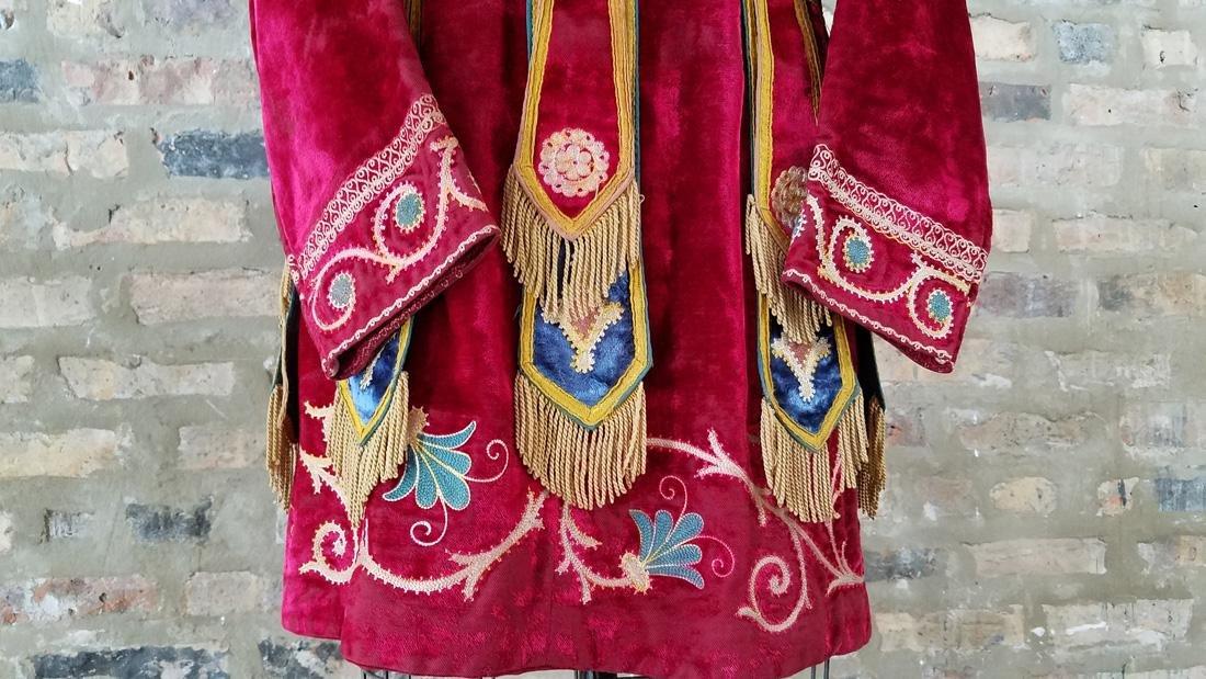 Antique Velvet Embroidered Masonic Tunic - 3