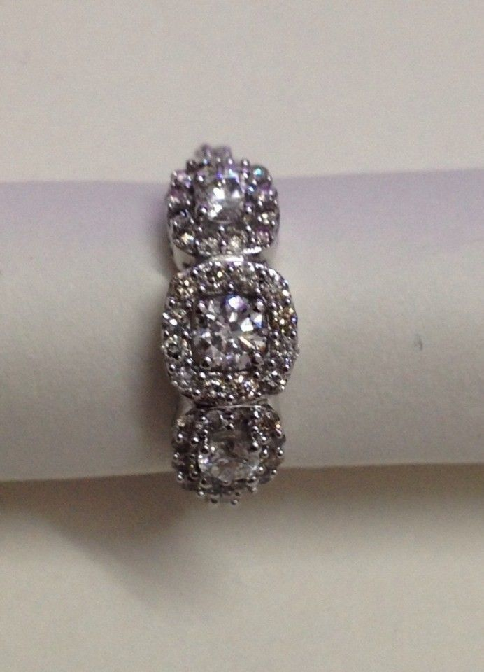 14 kt WHITE GOLD NATURAL DIAMOND RING , 1.21 CTS