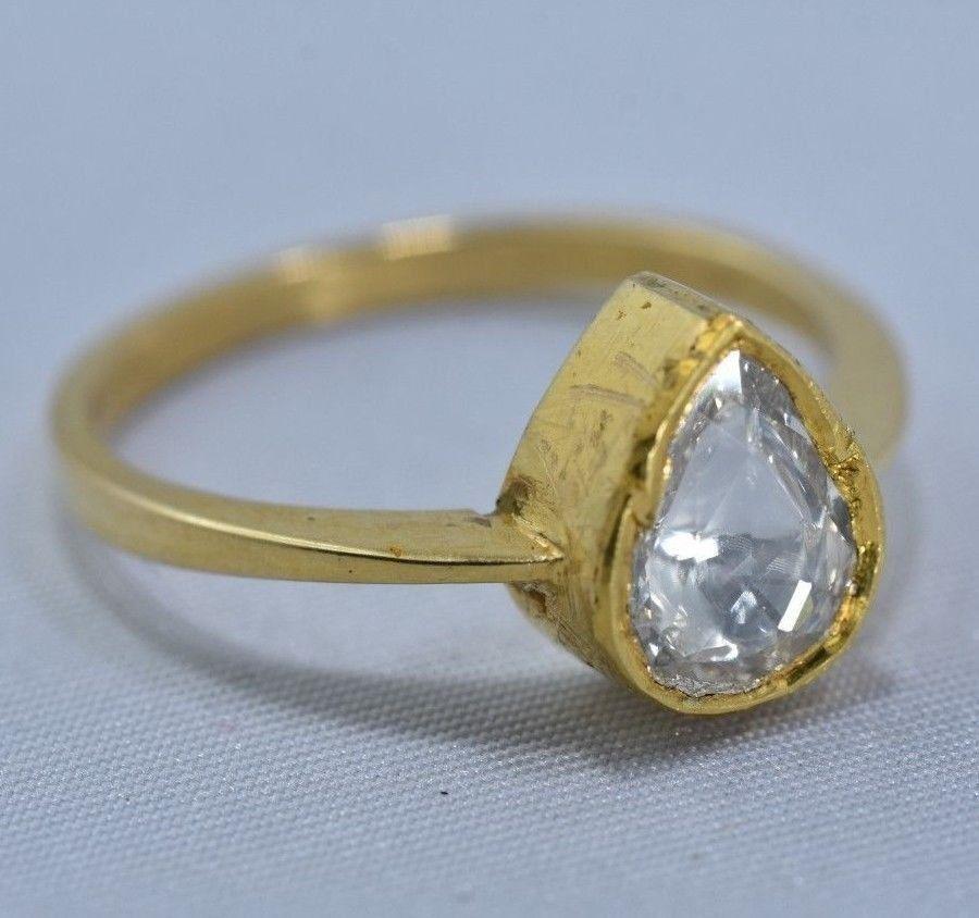 Vintage 18K Gold Natural Diamond Ring, 0.41ct