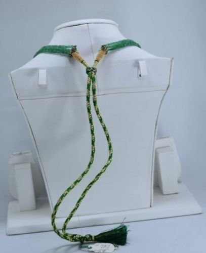 Natural emerald beads necklace - 4