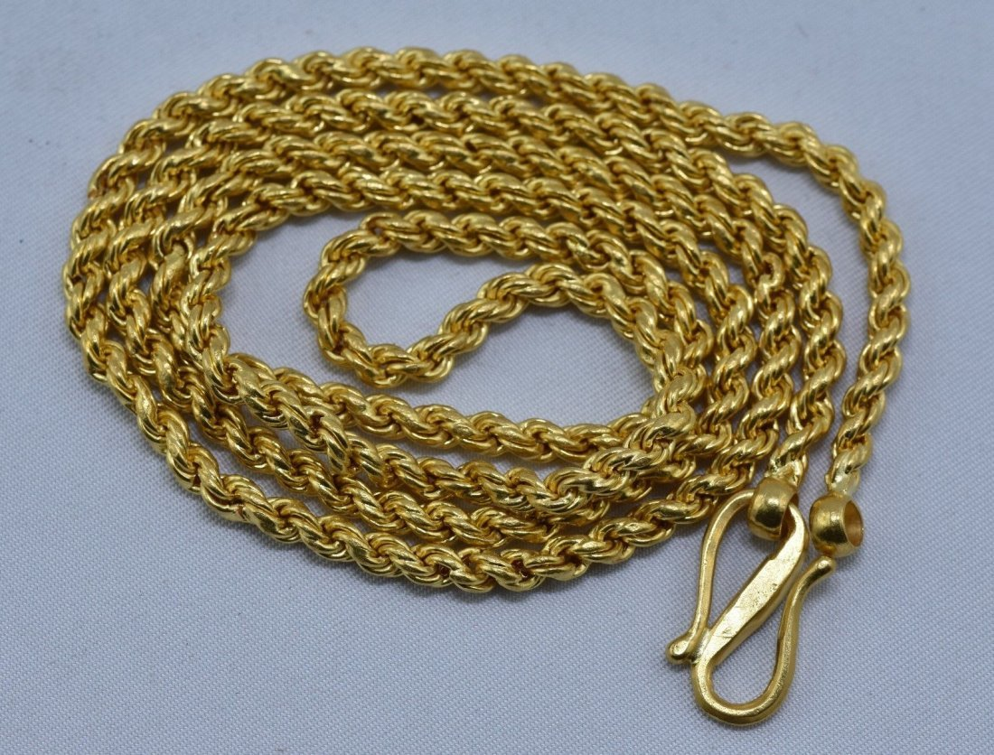 22 kt gold chain necklace handmade gold chain