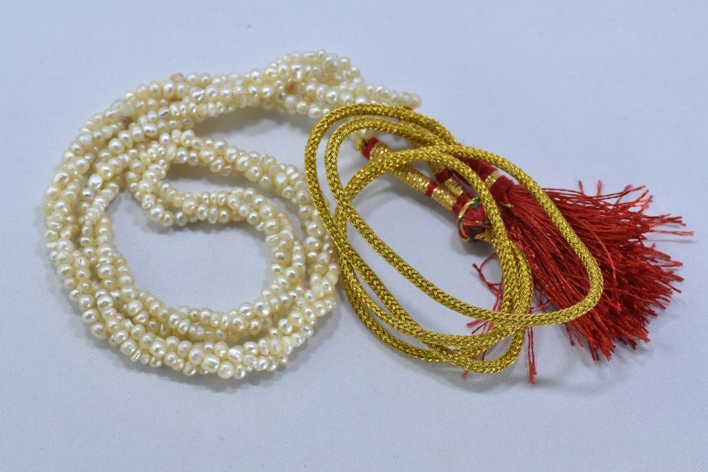 92 CWT NATURAL REAL BASRA PEARL TWISTED NECKLACE - 6