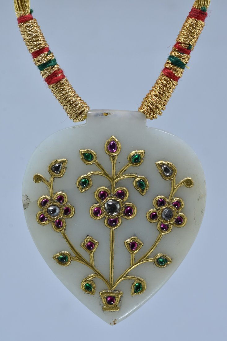 MUGHAL STYLE BEAUTIFUL ORNAMENTAL JADE PENDANT