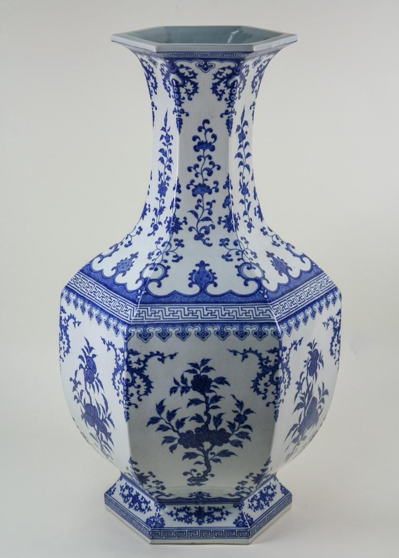 DAQING QIANLONG NIANZHI MARK BLUE&WHITE LARGE VASE - 2