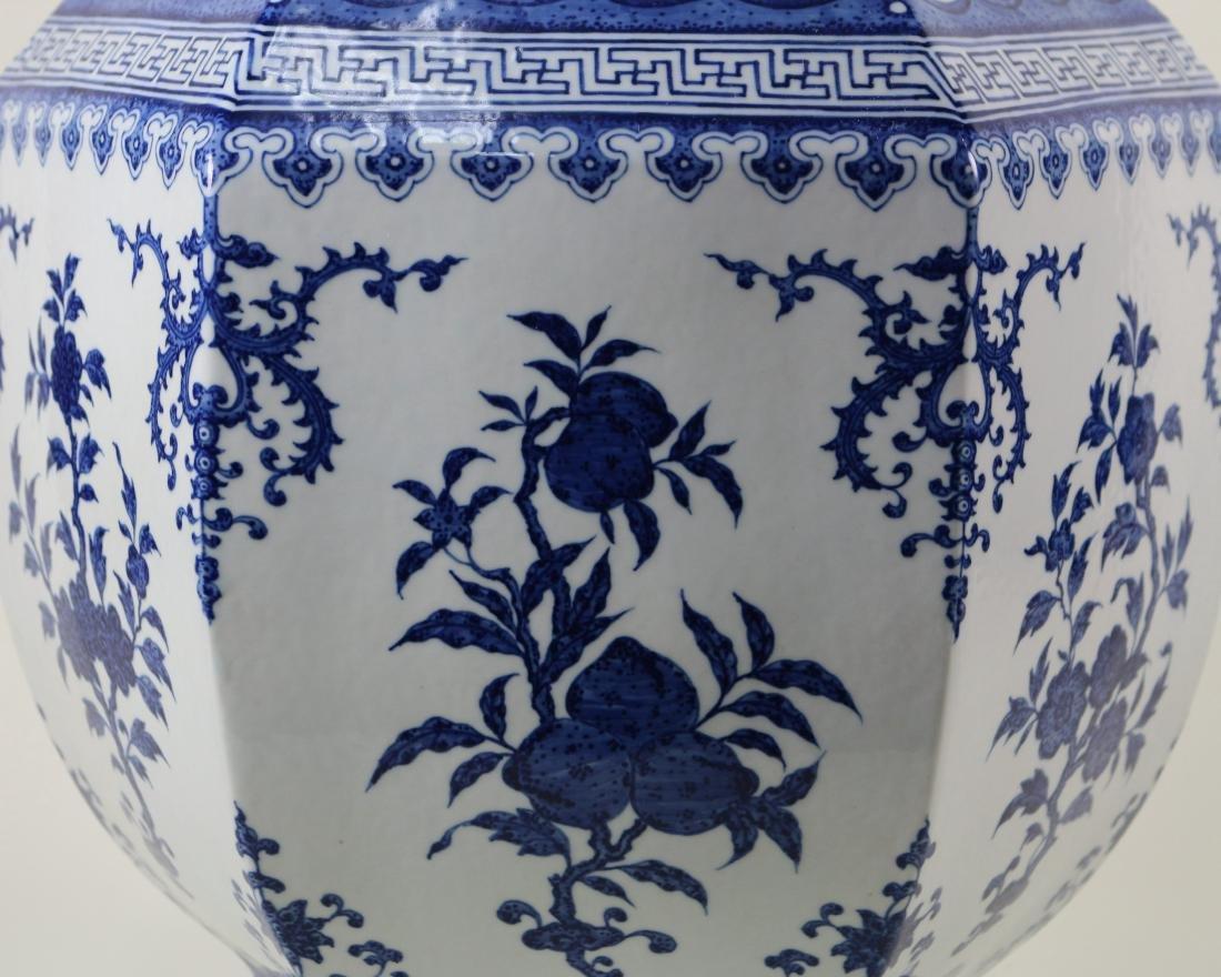 DAQING QIANLONG NIANZHI MARK BLUE&WHITE LARGE VASE - 3