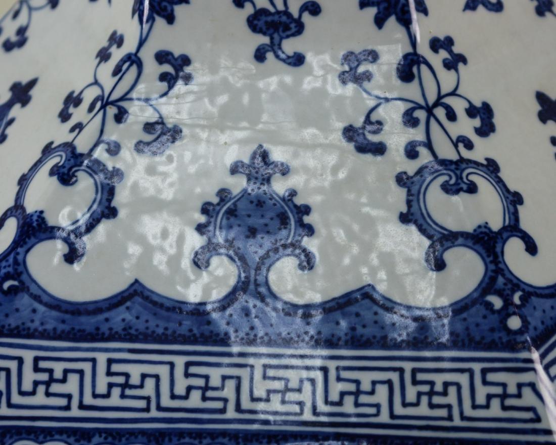 DAQING QIANLONG NIANZHI MARK BLUE&WHITE LARGE VASE - 5