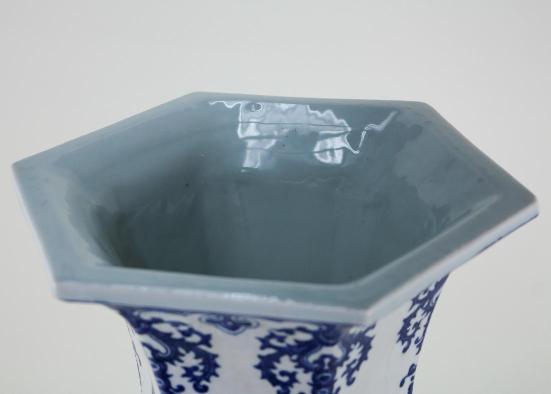 DAQING QIANLONG NIANZHI MARK BLUE&WHITE LARGE VASE - 6
