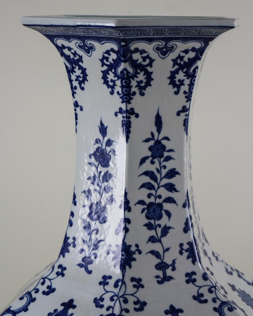 DAQING QIANLONG NIANZHI MARK BLUE&WHITE LARGE VASE - 8