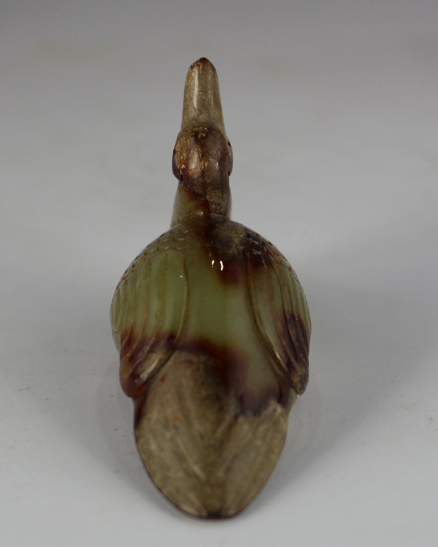 DUCK CARVED JADE PENDANT - 4