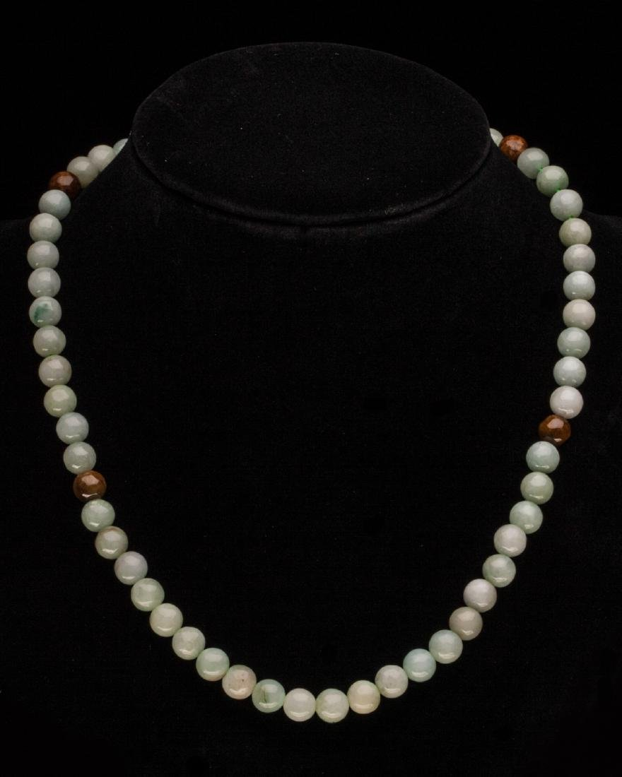 BEADED JADE NECKLACE - 2