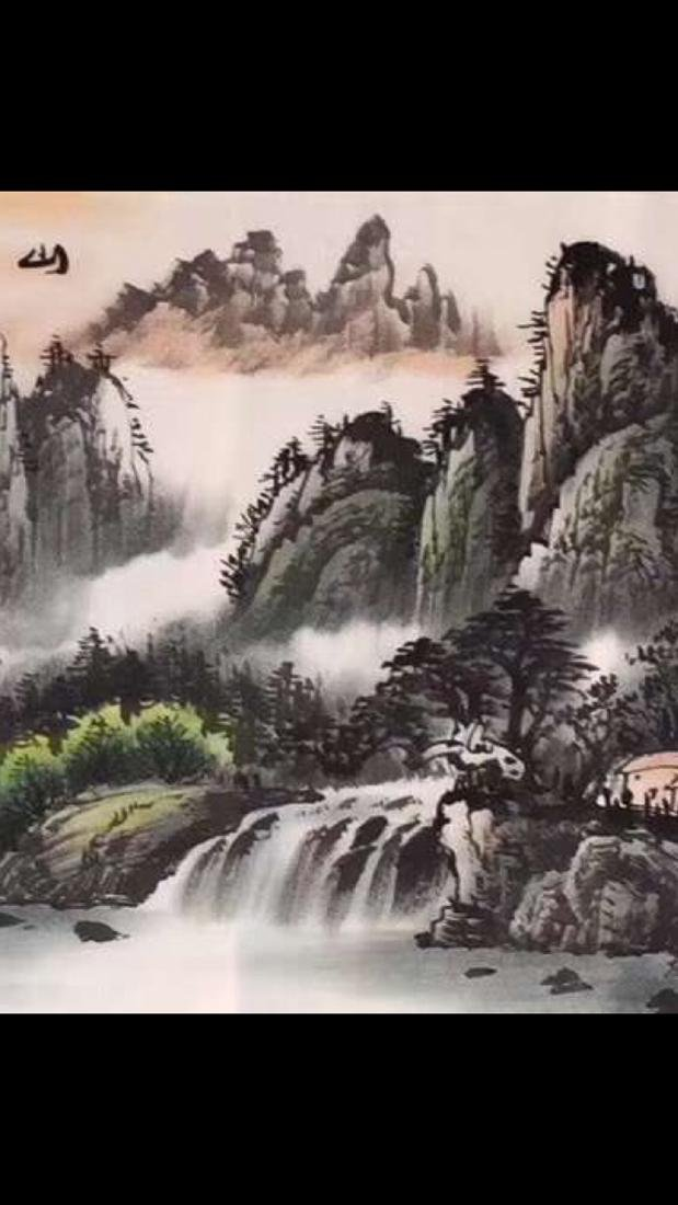 """ZHOU GUOYAO PAINTING """"XU RI DONG SHENG"""" - 4"""
