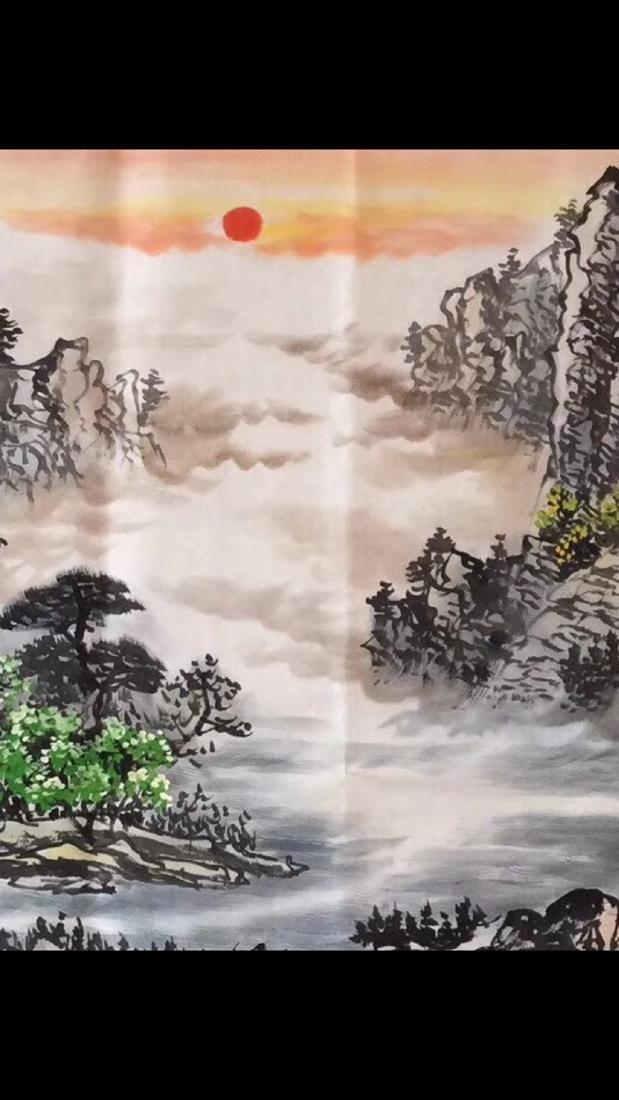 """ZHOU GUOYAO PAINTING """"FU SHAN GUI SHUI"""" - 2"""