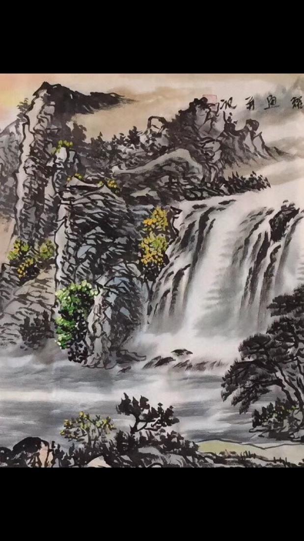 """ZHOU GUOYAO PAINTING """"FU SHAN GUI SHUI"""" - 3"""