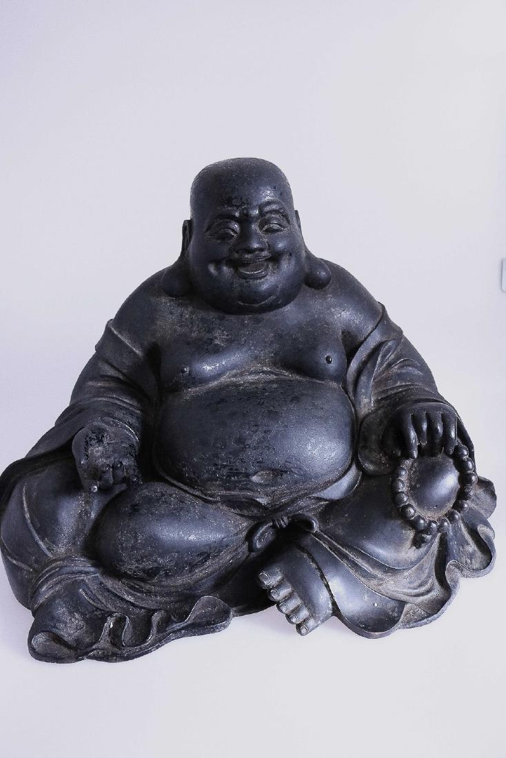 A DAQING QIANLONG  MARK LAUGHING BUDDHA (AD 1736-1796)