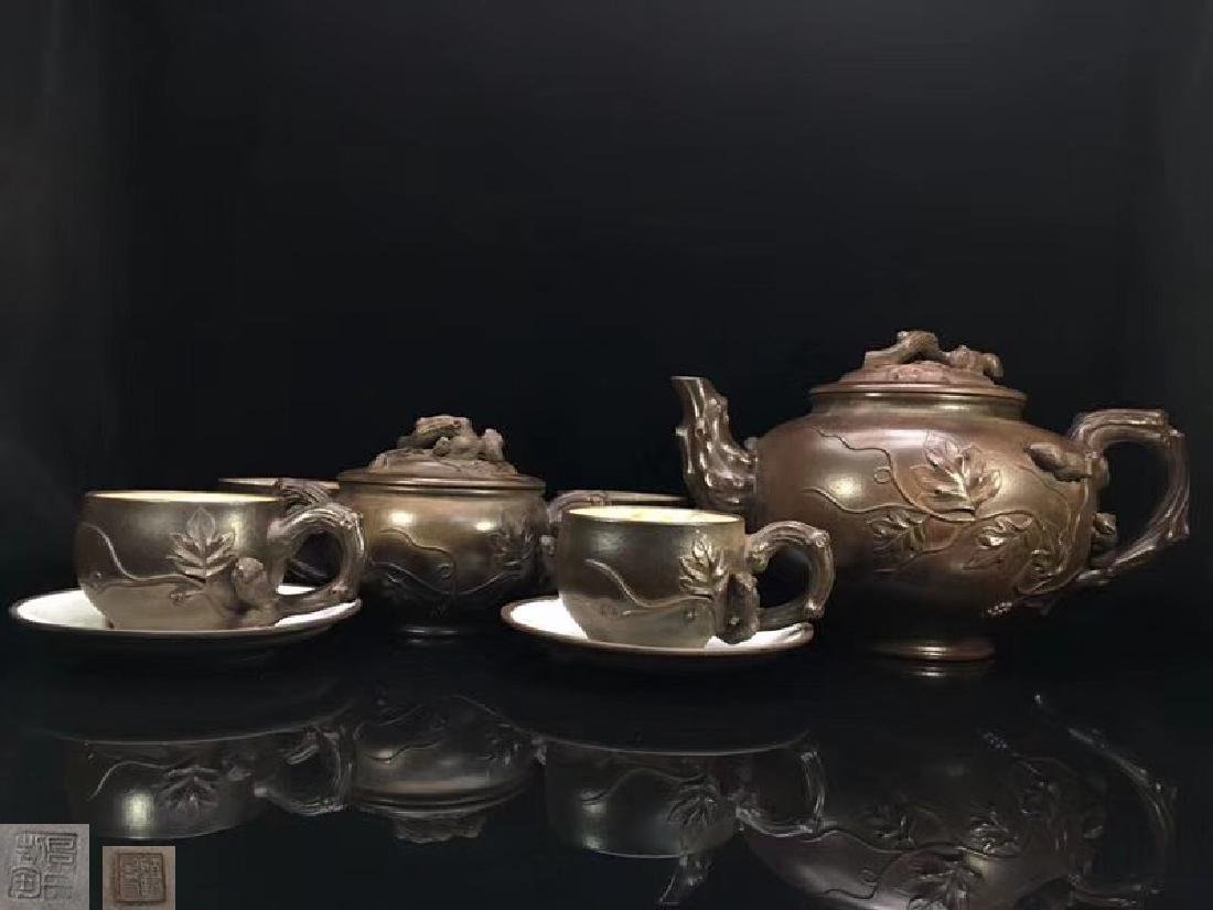 A SET OF TEAPOT WITH GUJINGZHOU MARK
