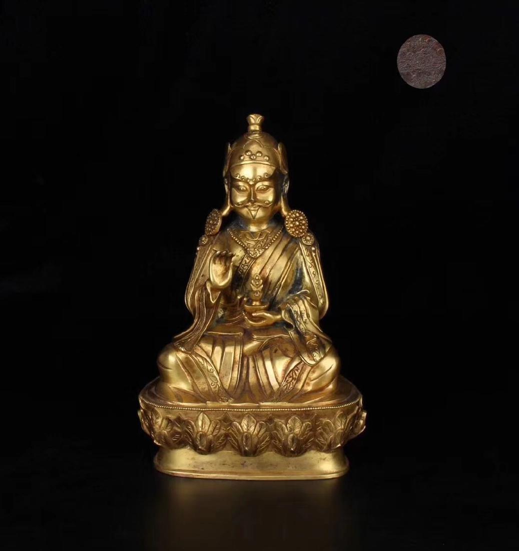 MING GILT BRONZE BUDDHA FIGURE