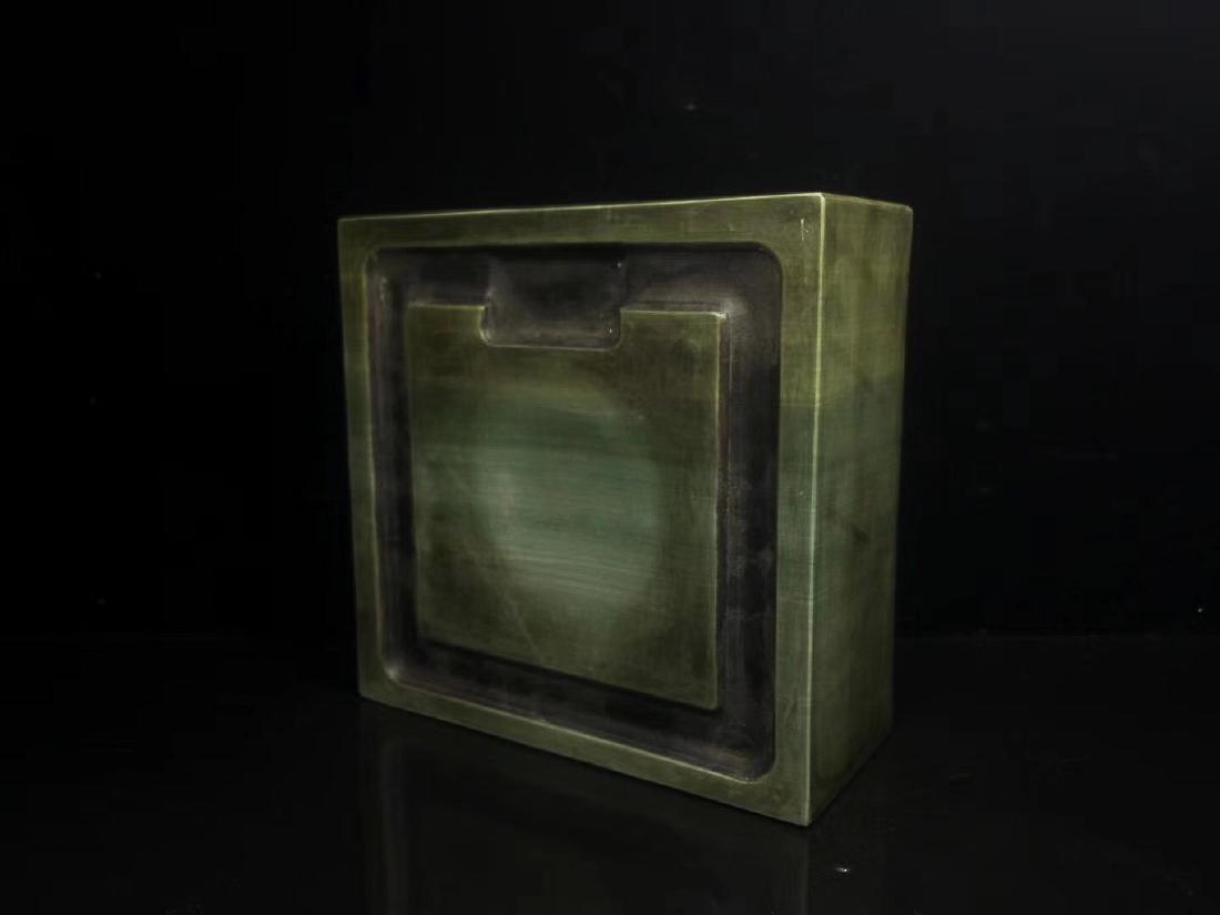 A LIZHONGHE KUAN GREEN DUAN INKSTONE, TONGZHI PERIOD - 2