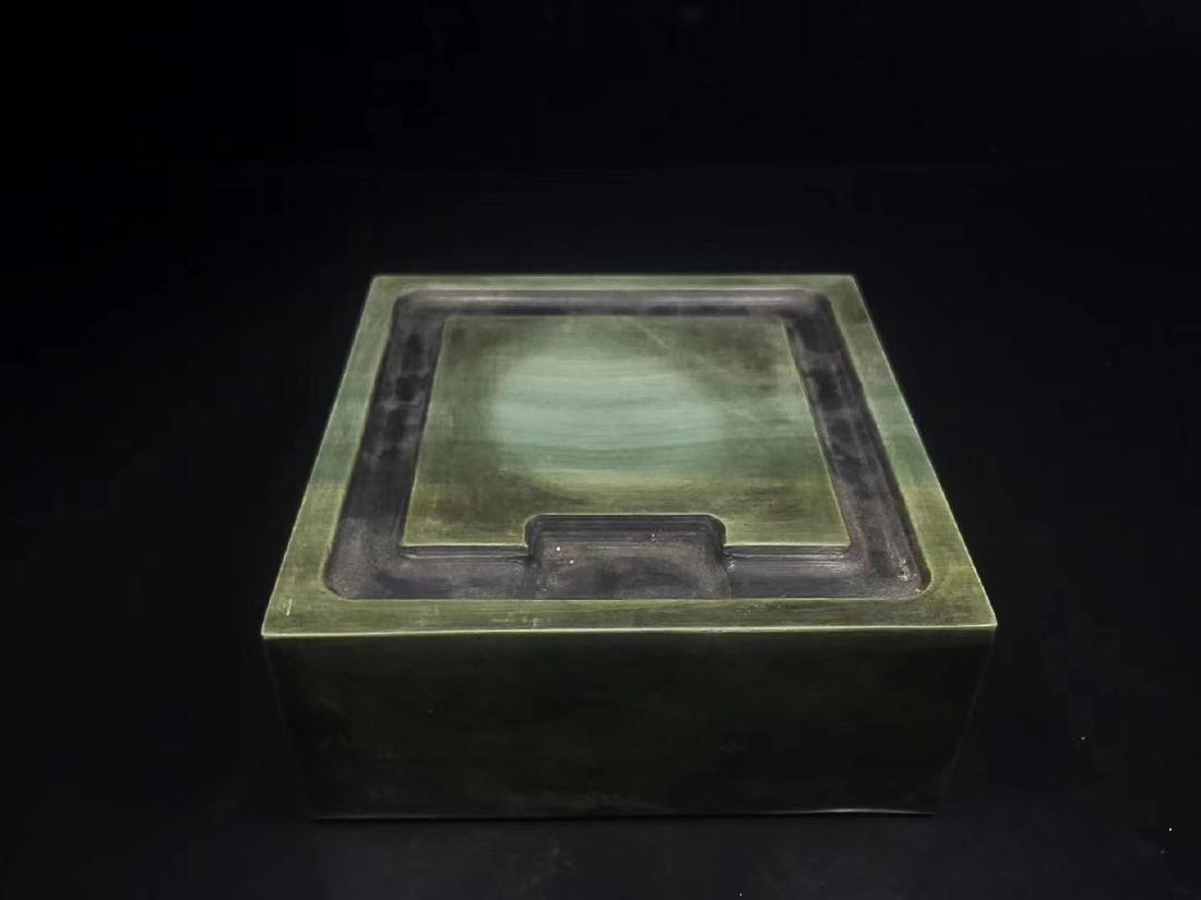 A LIZHONGHE KUAN GREEN DUAN INKSTONE, TONGZHI PERIOD - 5