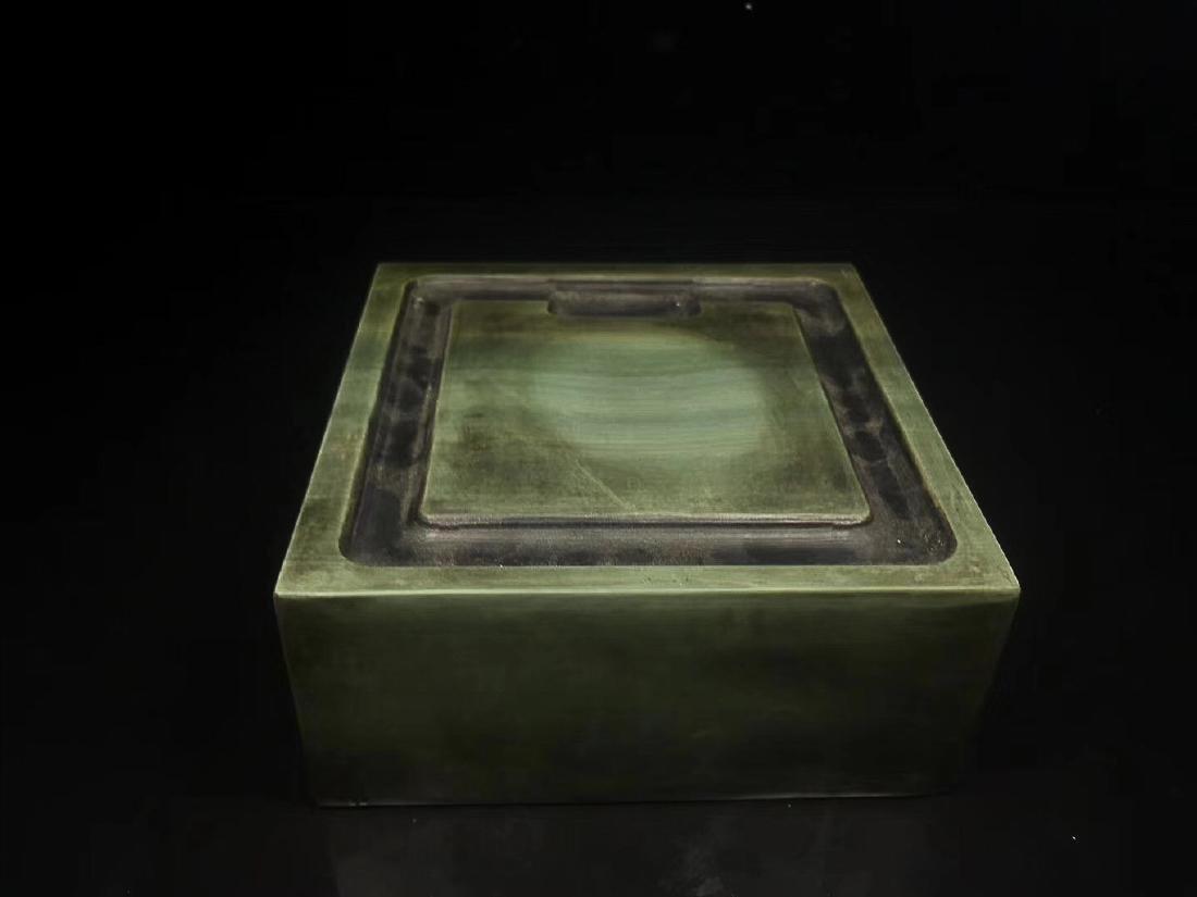 A LIZHONGHE KUAN GREEN DUAN INKSTONE, TONGZHI PERIOD - 6