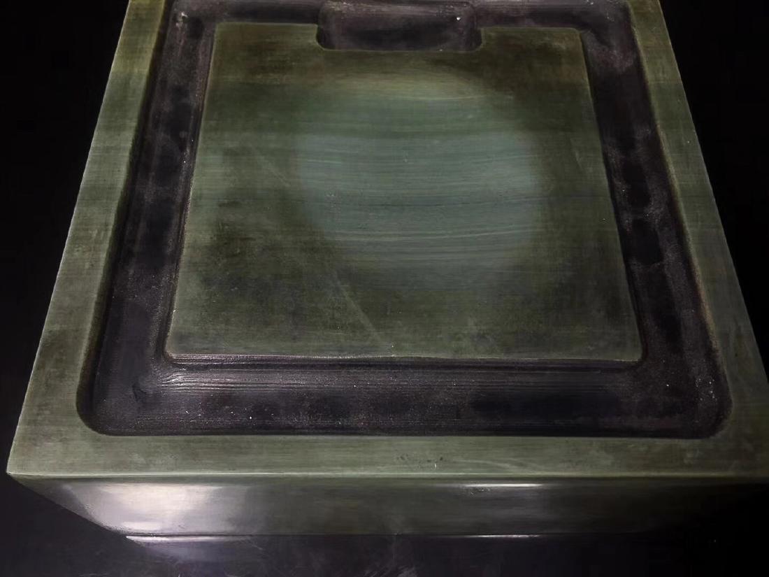 A LIZHONGHE KUAN GREEN DUAN INKSTONE, TONGZHI PERIOD - 8