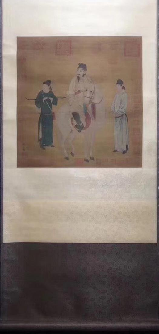 WATERCOLOR PAINTING HAND SCROLL OF SUNWEI SIGN