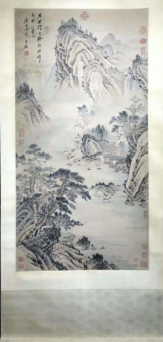 INK PAINTING HAND SCROLL OF WANGJIAN SIGN