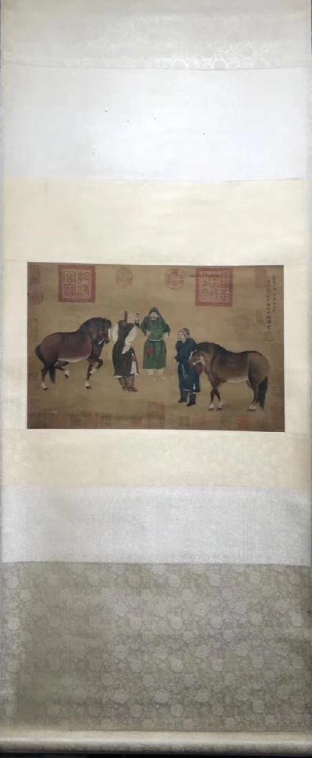 WATERCOLOR PAINTING HAND SCROLL OF RENZIMING SIGN
